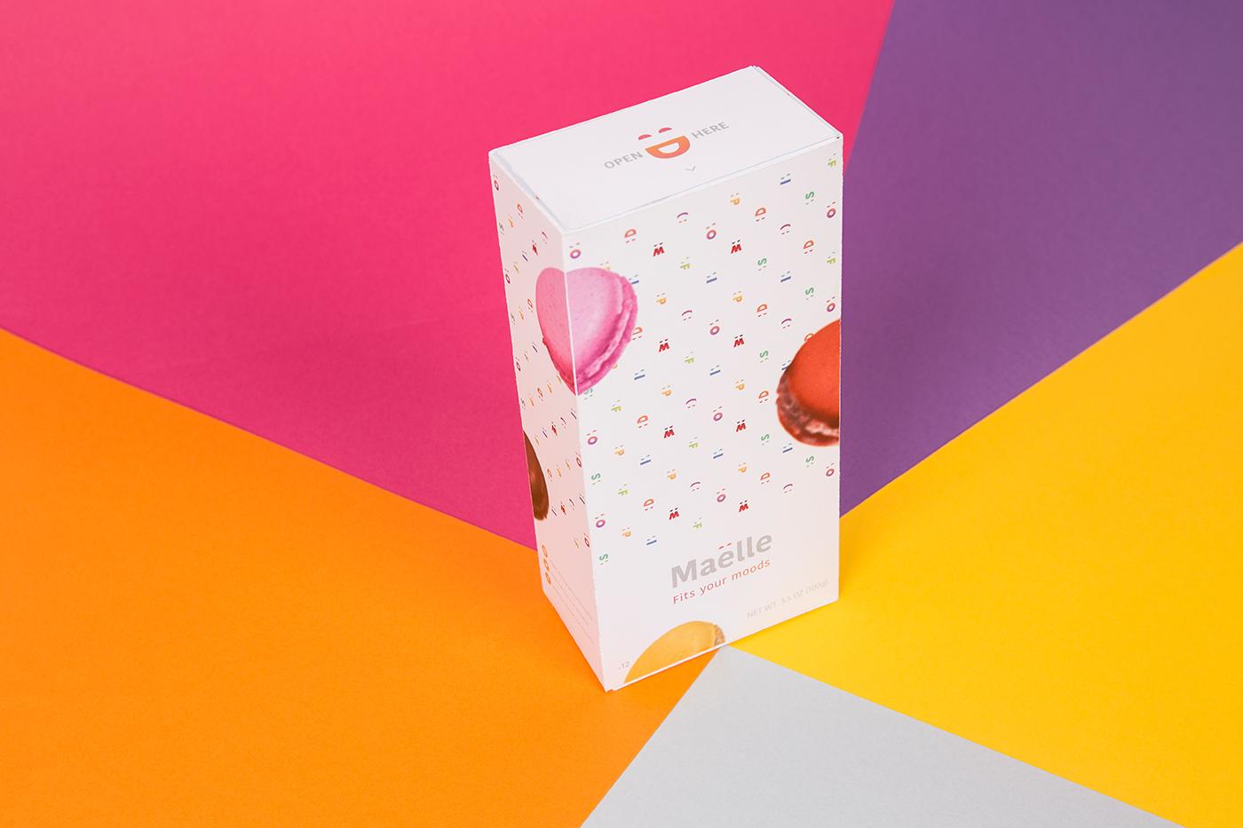 pop Flashy sweet cake macaron colour French fresh mood Food  trendy Mockup