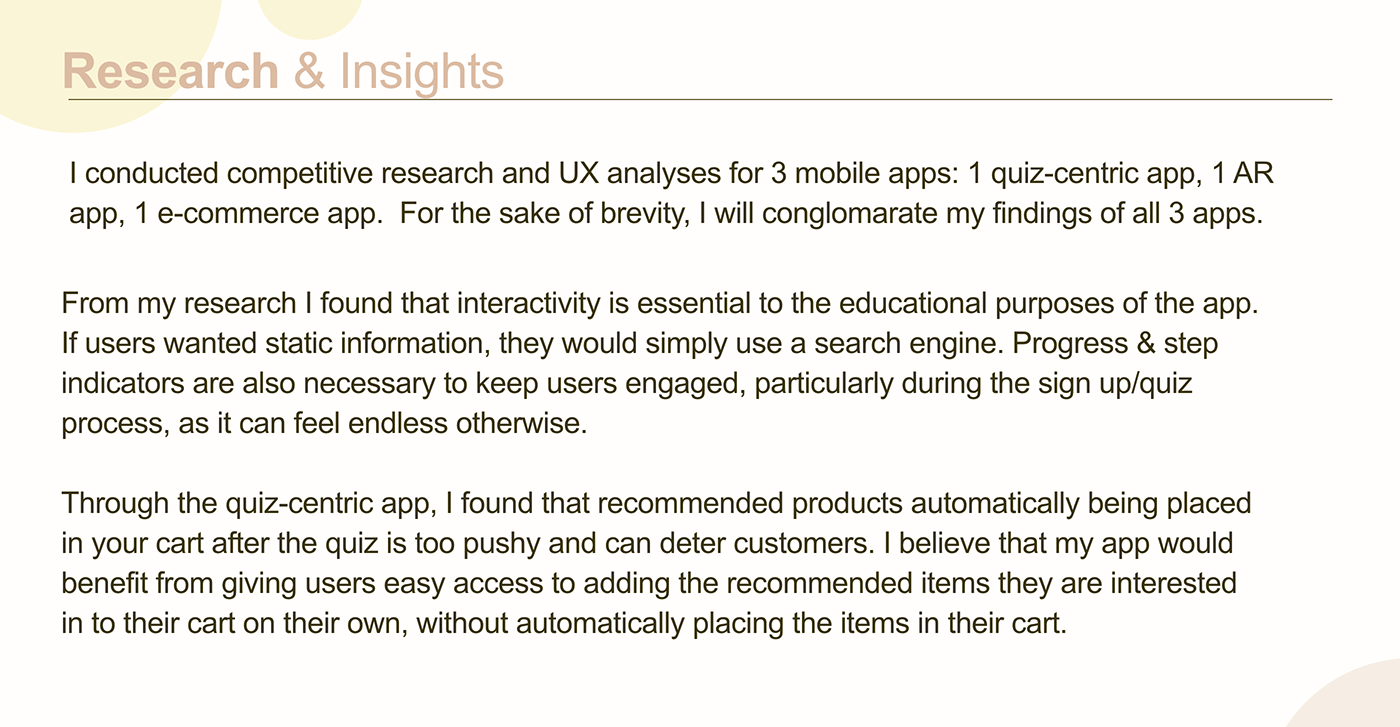 Mobile app shopping app skincare ui design UX design