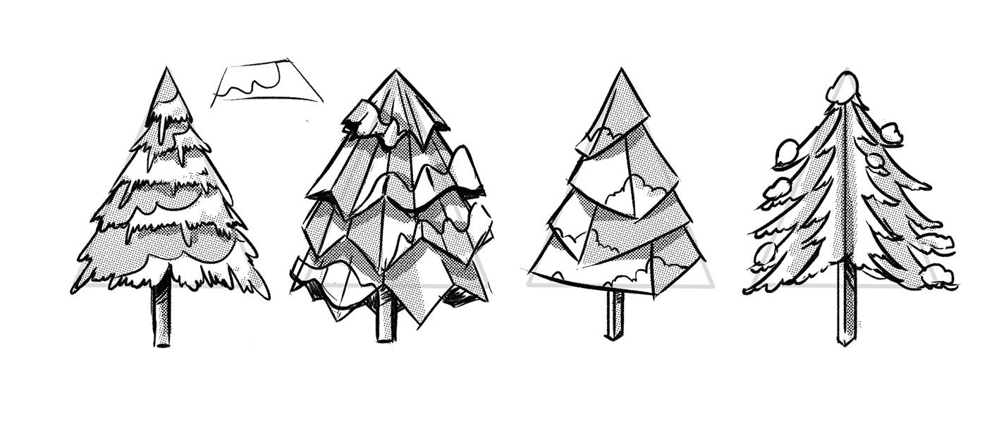 3d animation holiday greeting ILLUSTRATION  MIT motion graphics  papercut animation papercut illustration video video animation