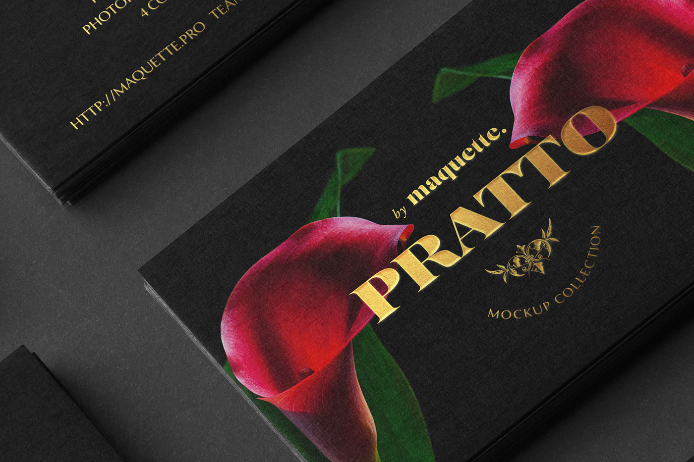 Black Business Cards Stacks Arranged in Rows PSD Mockup on Behance