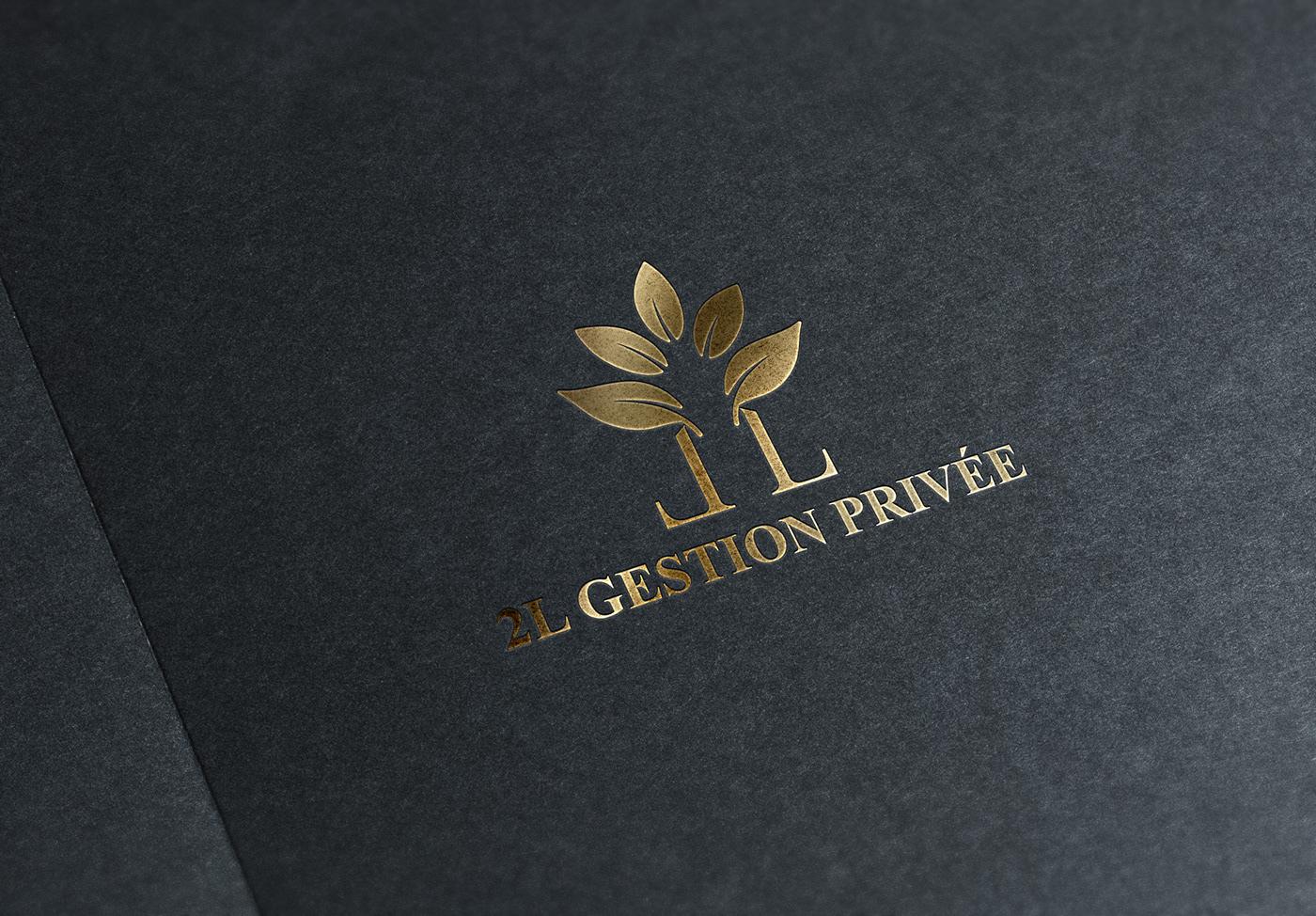 logo Logotype identité visuelle branding  pattrimoine assurance Courtier dark