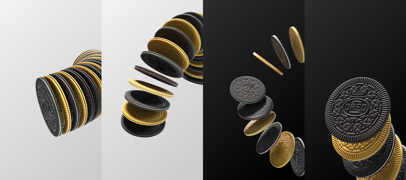 animation  cookies design oreo Oreo Thins product design  tv