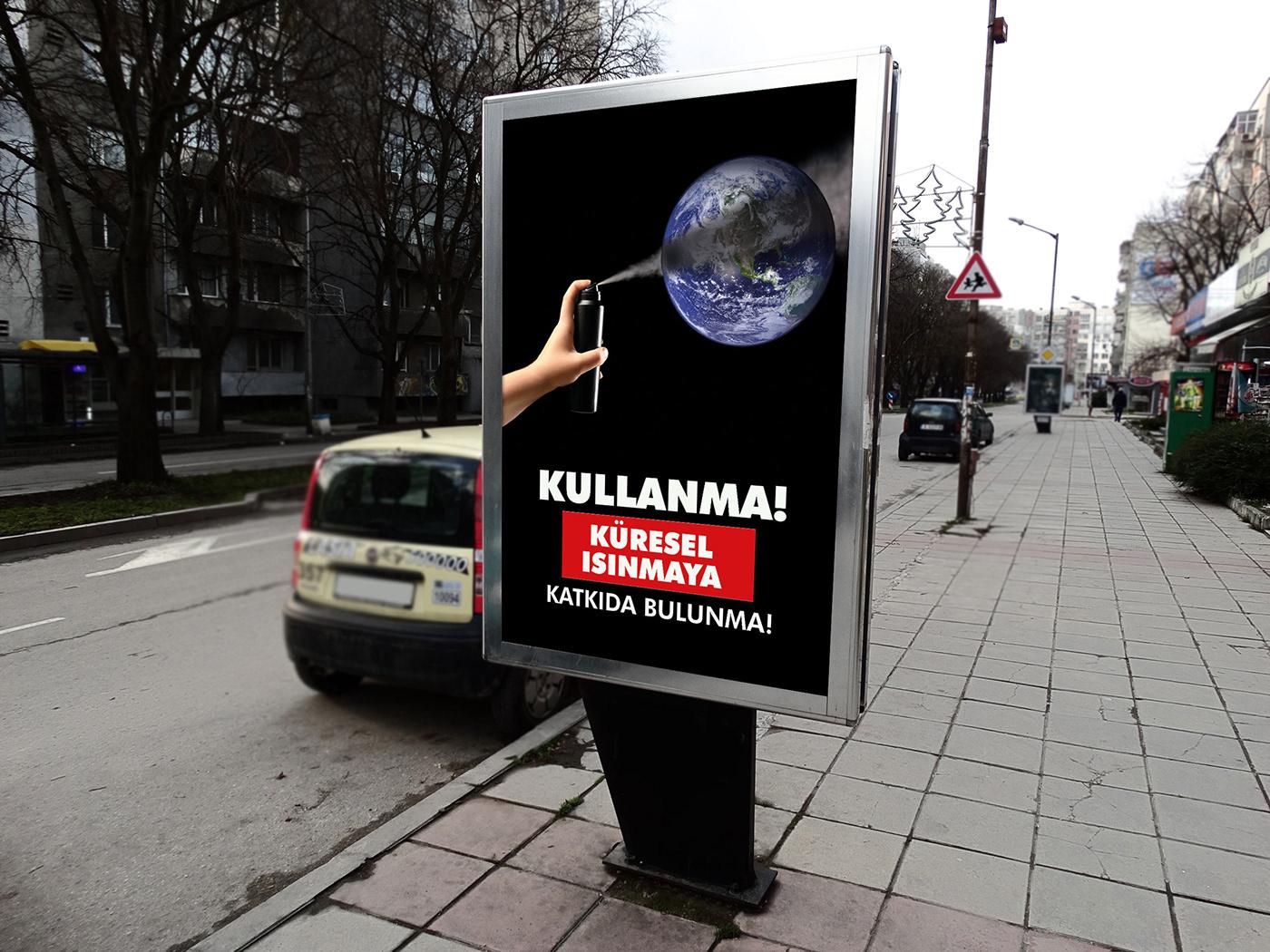 global warming Global design poster ILLUSTRATION  world earth