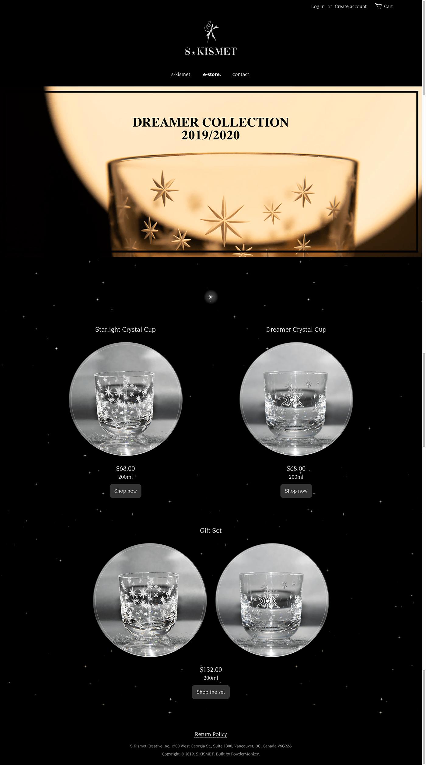 Web design development animation  crystal