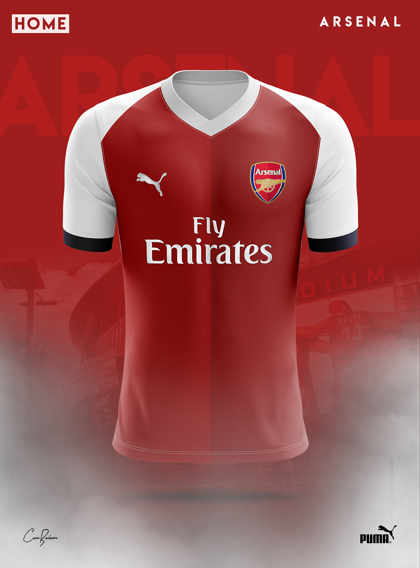 0bd97faba Arsenal FC - PUMA - Concept 2019 on Behance