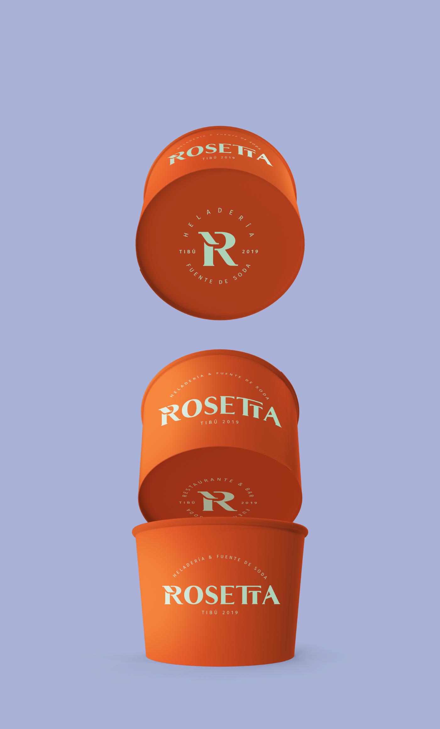 branding  helados icecream logo marca MARCAHELADO rosetta TAF