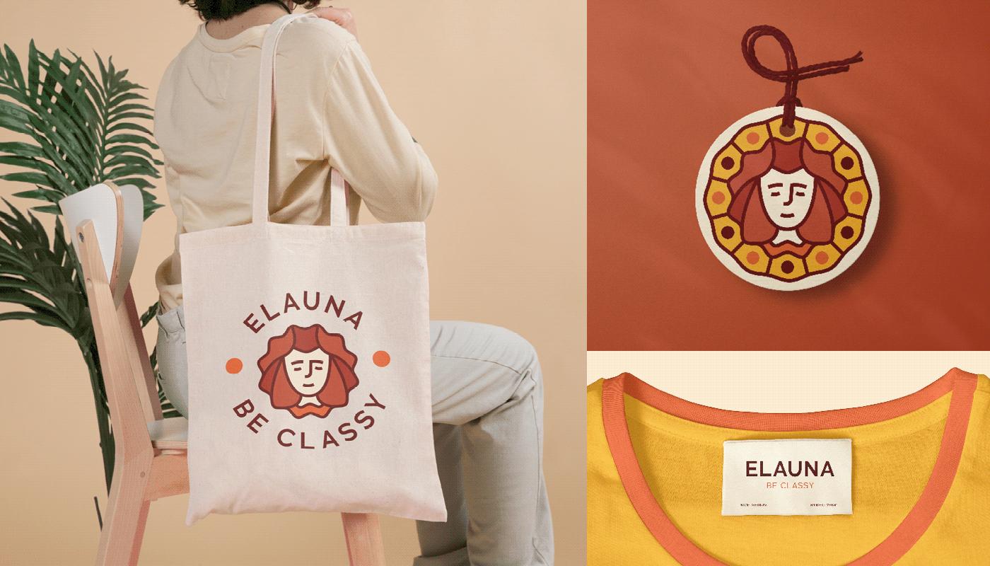 branding  Classic classy coptic dress egyptian Formal identity logo soirée