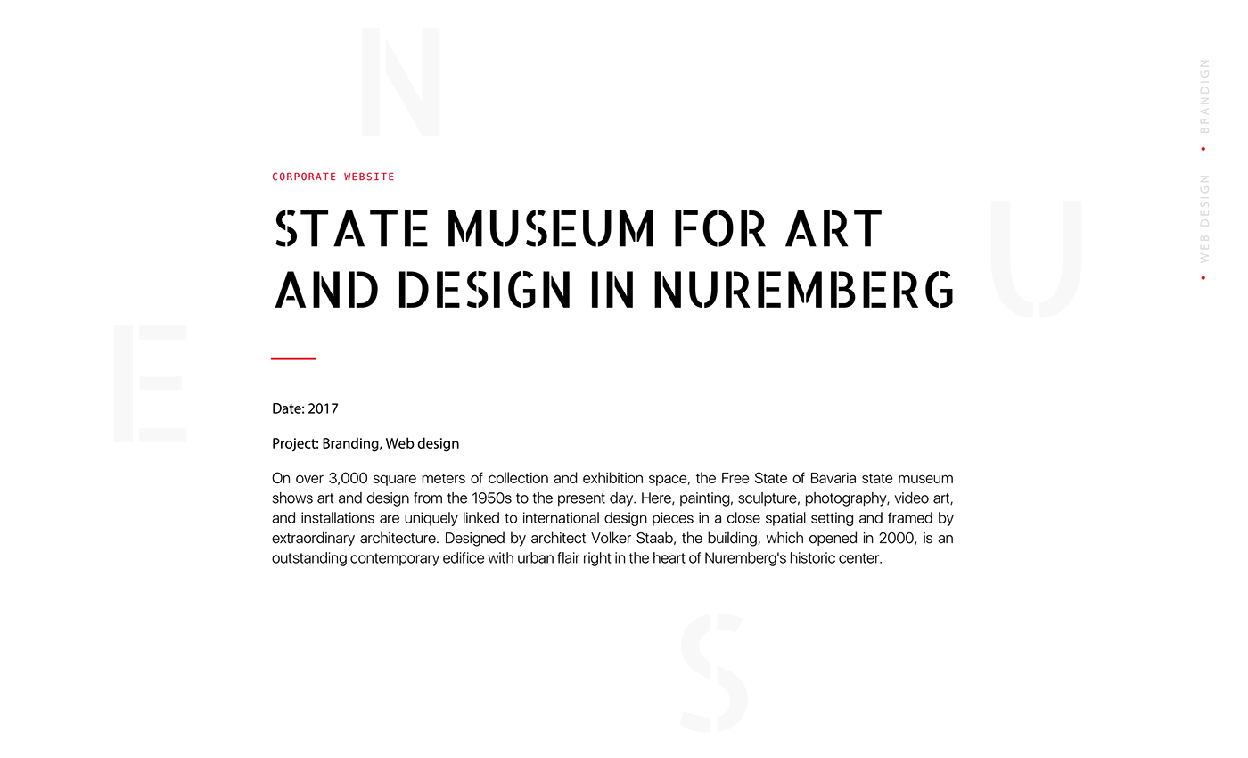 architecture design museum Neues Museum Nuernberg art international design sculpture Exhibition  sherrie levine branding  Web Design