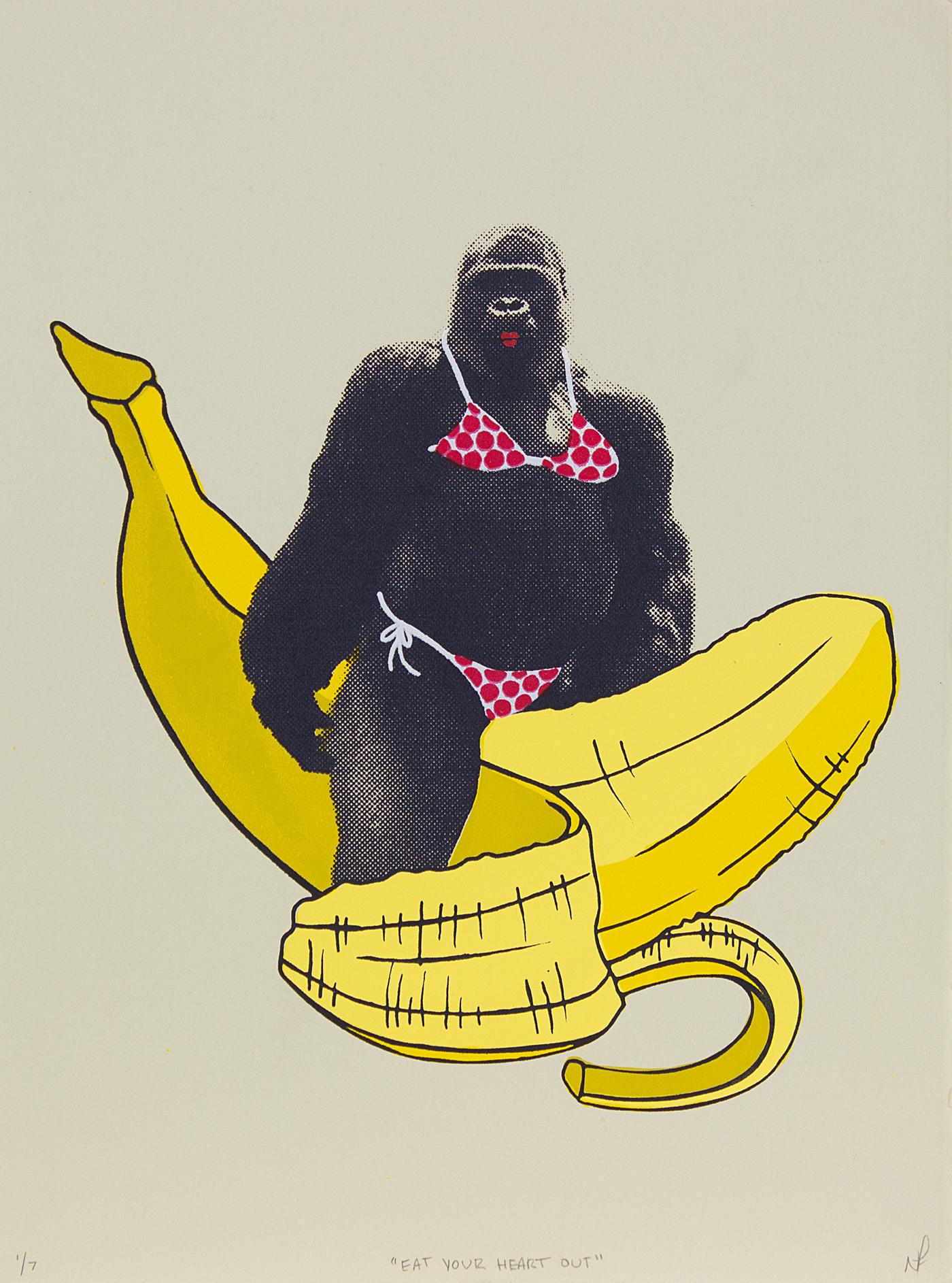 Goriila sexy bikini banana body image animal personal self portrait