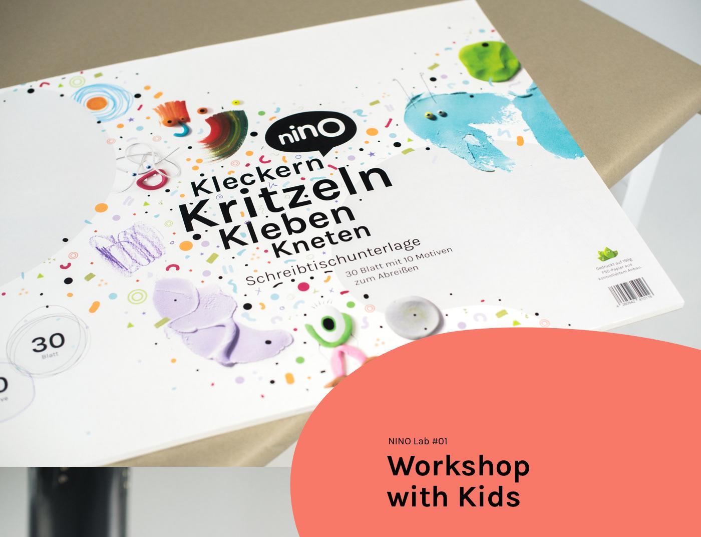 Desk Pad schreibtischunterlage product design  print mixed media crafting Creativity kids Brand Design kids brand