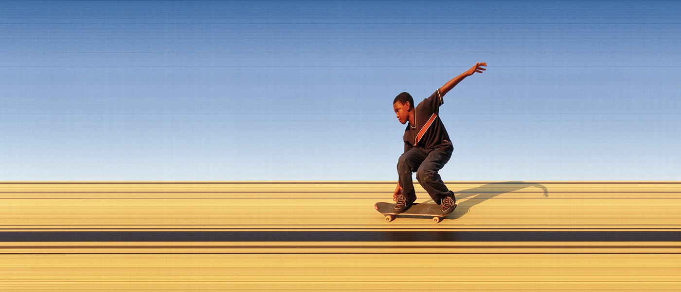 synchroballistic skateboarding analog Film   photo finish photofinish skateboard skate sport slitscan