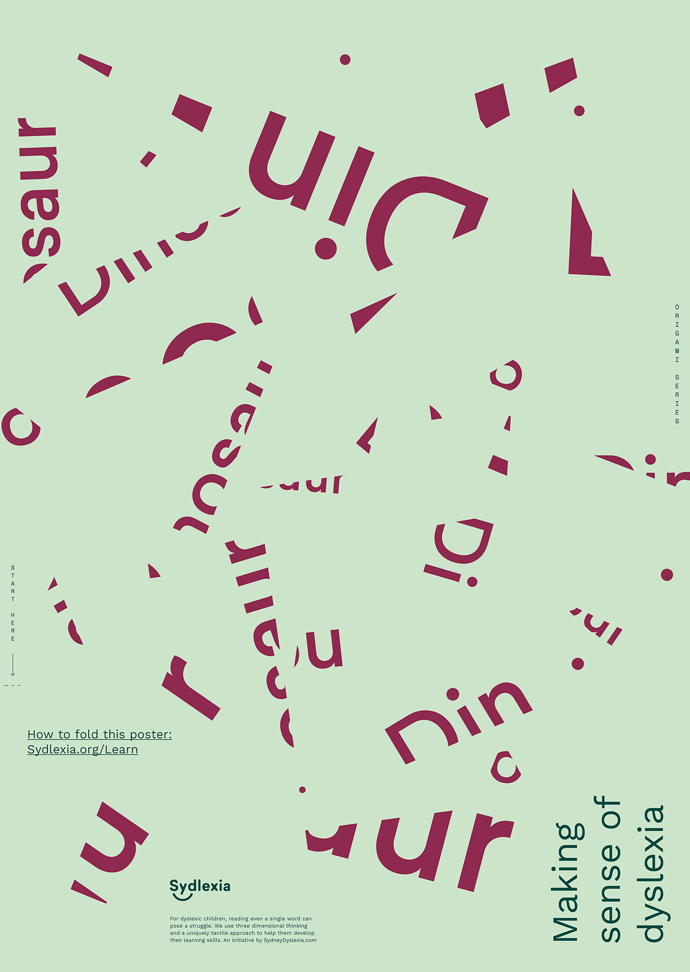 posters typography   design dyslexia Pastels