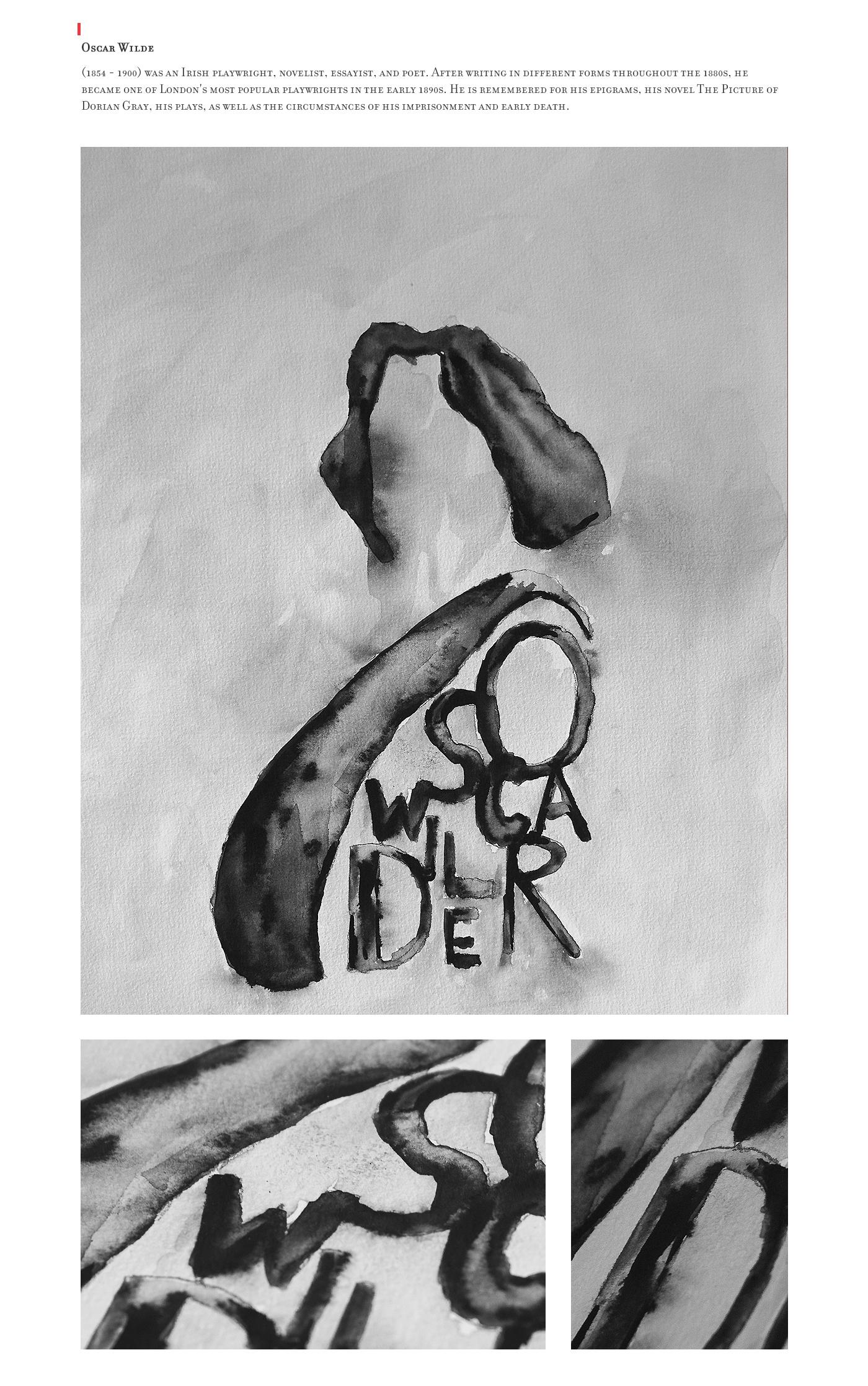 watercolor Nietzcshe kafka sait faik abasıyanık sabahattin ali Nazım Hikmet Ran Cemal Süreya Oscar Wilde Dostoyevsky Black&white