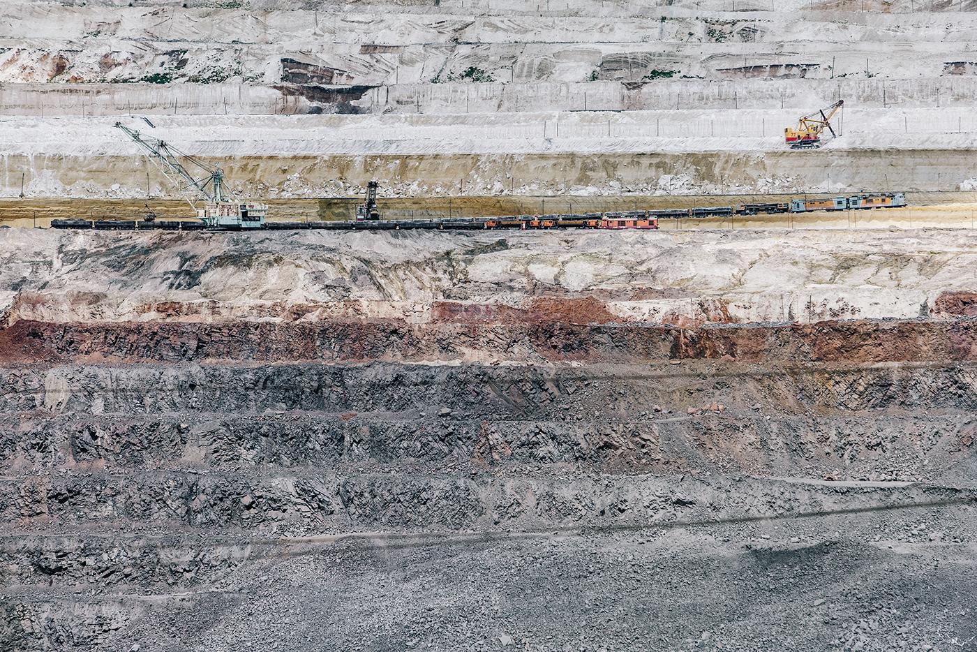 explosion Iron ore mining iron mine ГОК Landscape photo graphics