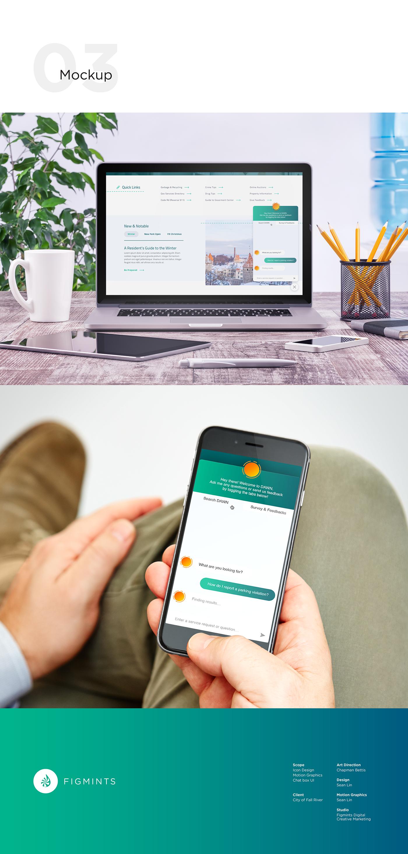 Web animation  logo motion graphics  Icon Chat UI gradient orange messaging