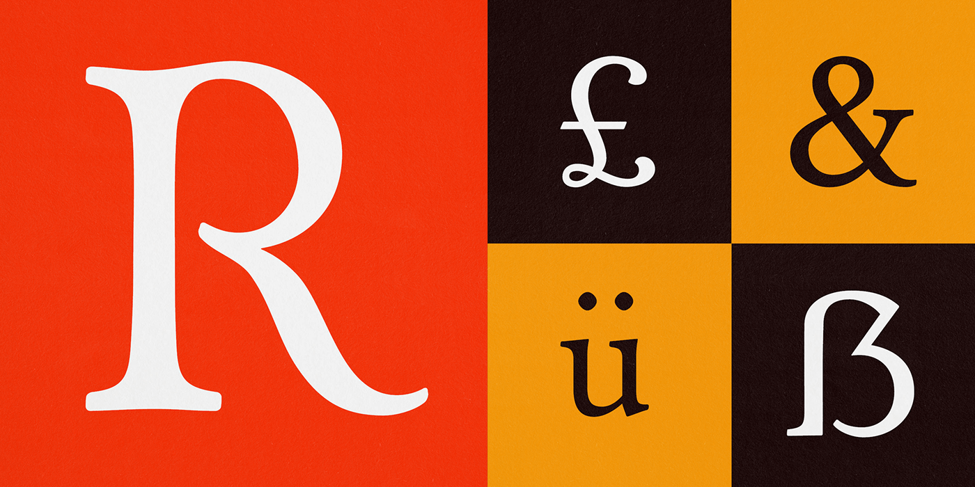 Red Dove Type Serif Typeface: Montage