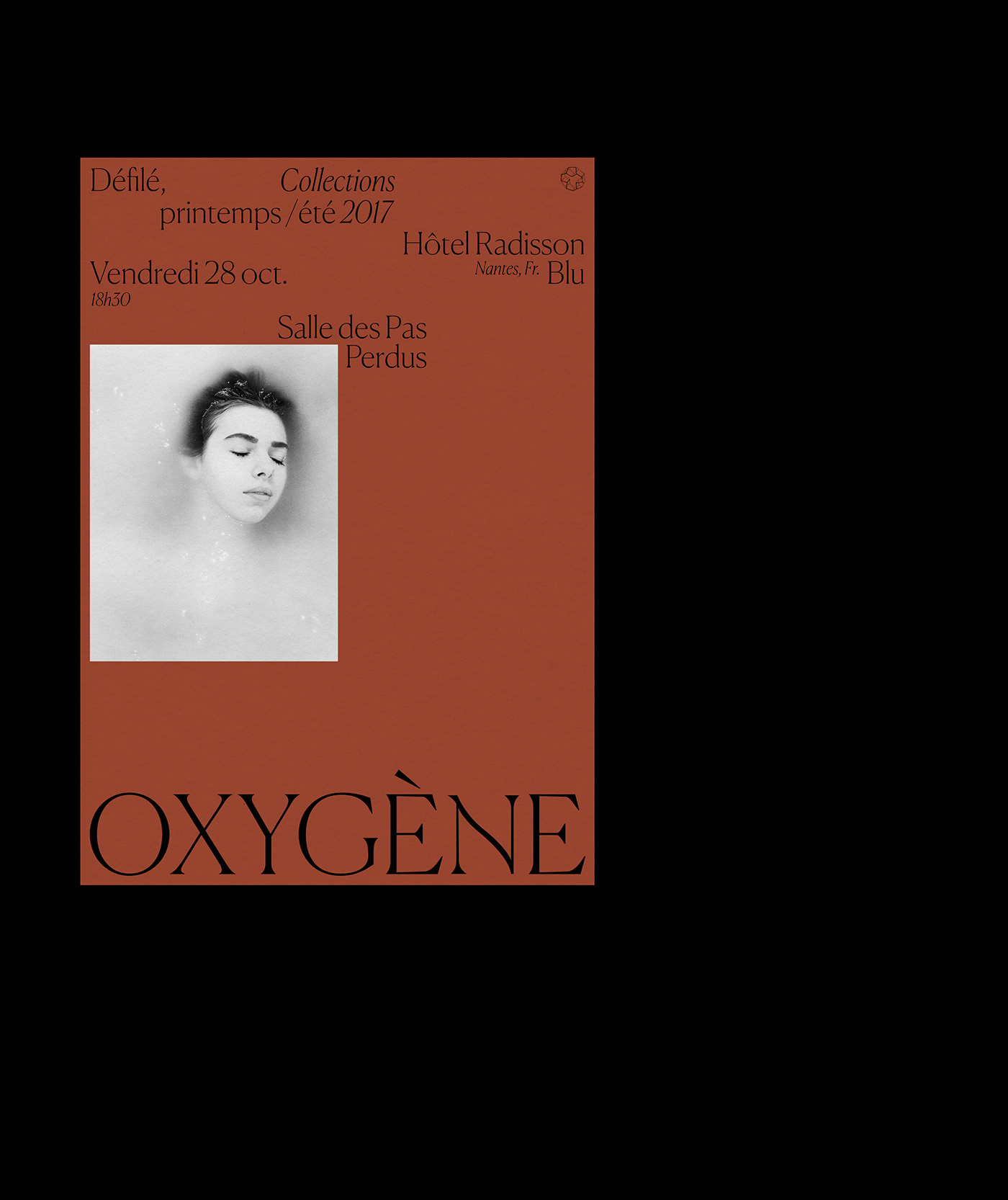 visual identity oxygen fashion show art direction  Event print branding  direction artistique Logotype poster