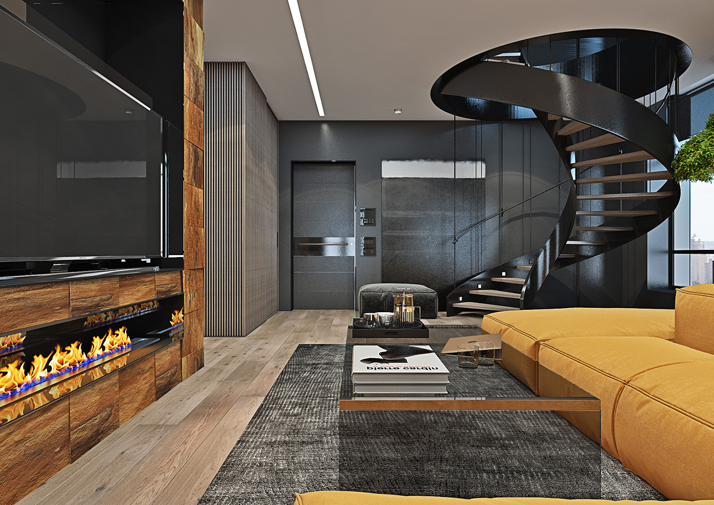 Dramatic Interior Of A Charismatic Bachelor On Behance