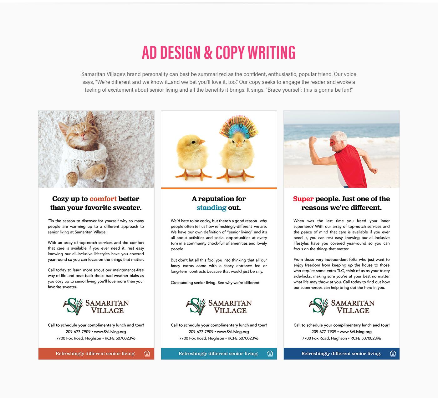 Web Design ,print design ,SEO,collateral design,cms blog,email marketing,social media marketing,senior housing,Retirement Community