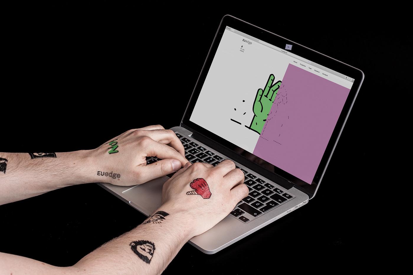 ascii alphabet Memory Mono software tech lenticular tattoo sticker Website