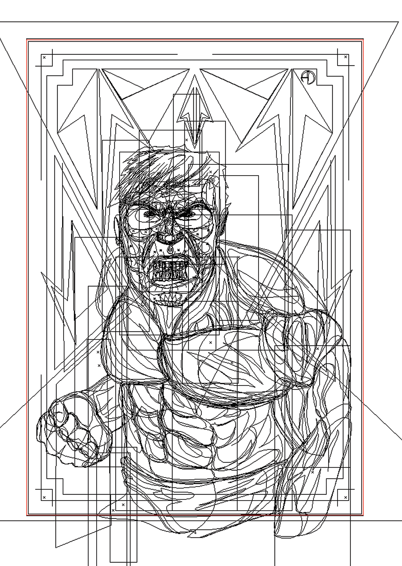 vector vectorart vectordesign ILLUSTRATION  charcterdesign comic marvel Hulk print poster