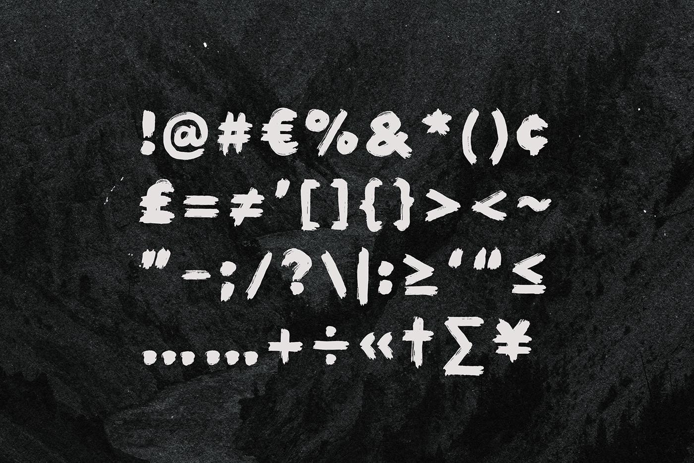 Typeface font brush script hand drawn font painted type type hand drawn type Painted textured brush