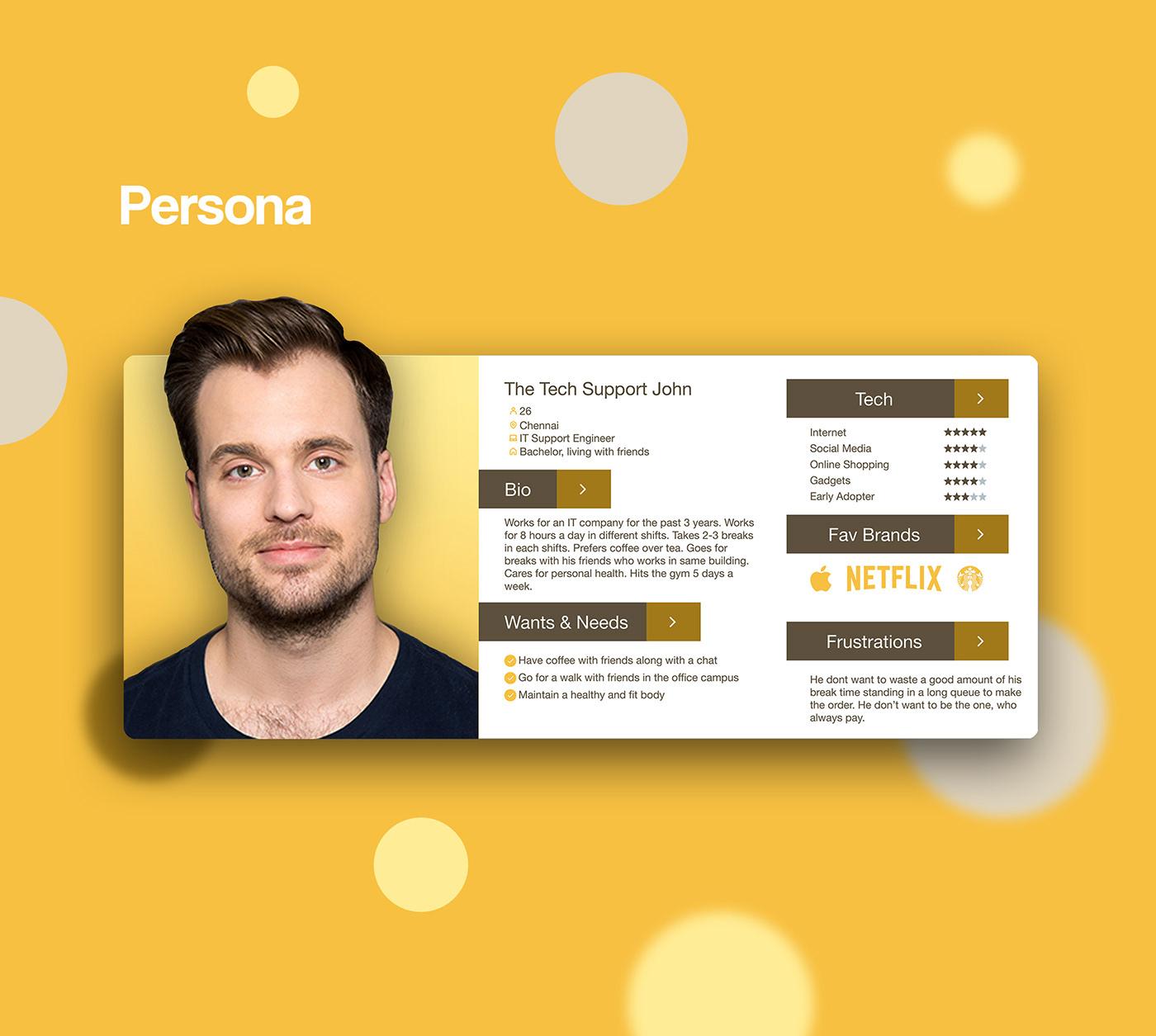 HotSip - Coffee booking   UX Case Study   UI Design, UX