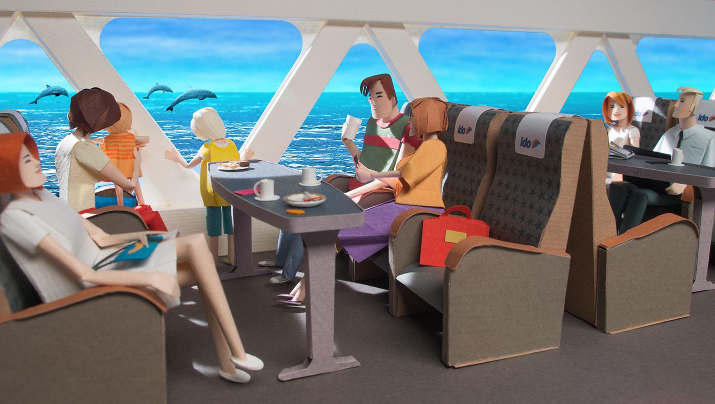 paper cut ferry istanbul