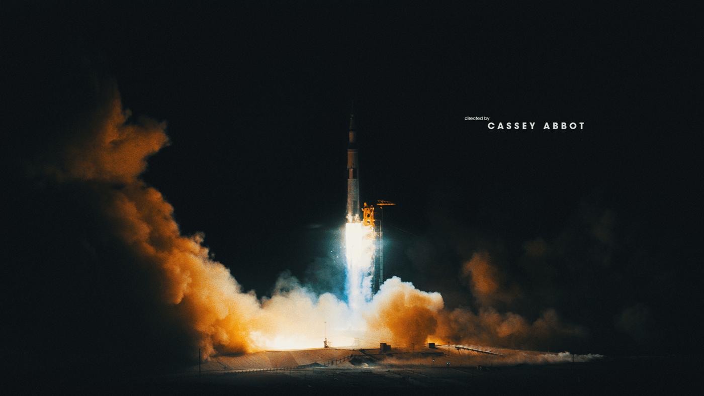 Main Title Design Documentary  design art direction  Title moon Apollo