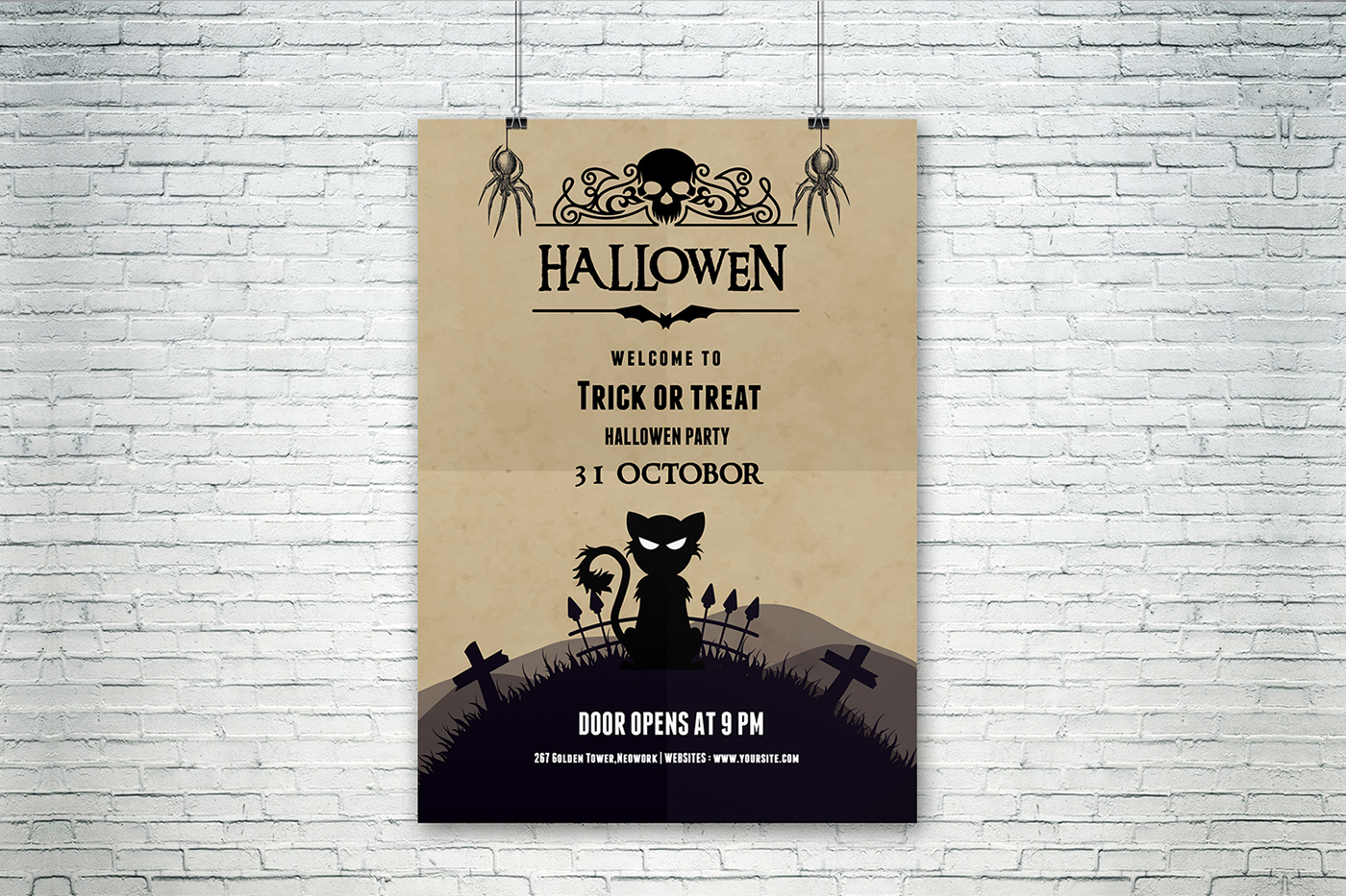 halloween party flyer design