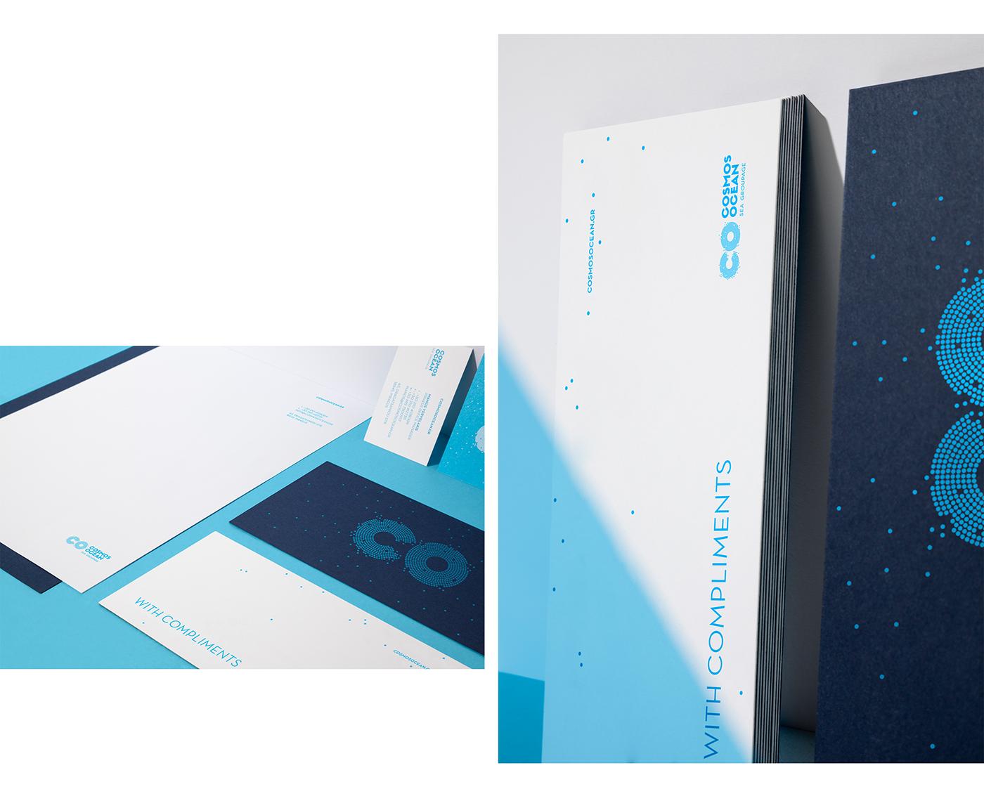 cosmos ocean Corporate Identity identity logo Logotype Greece design branding