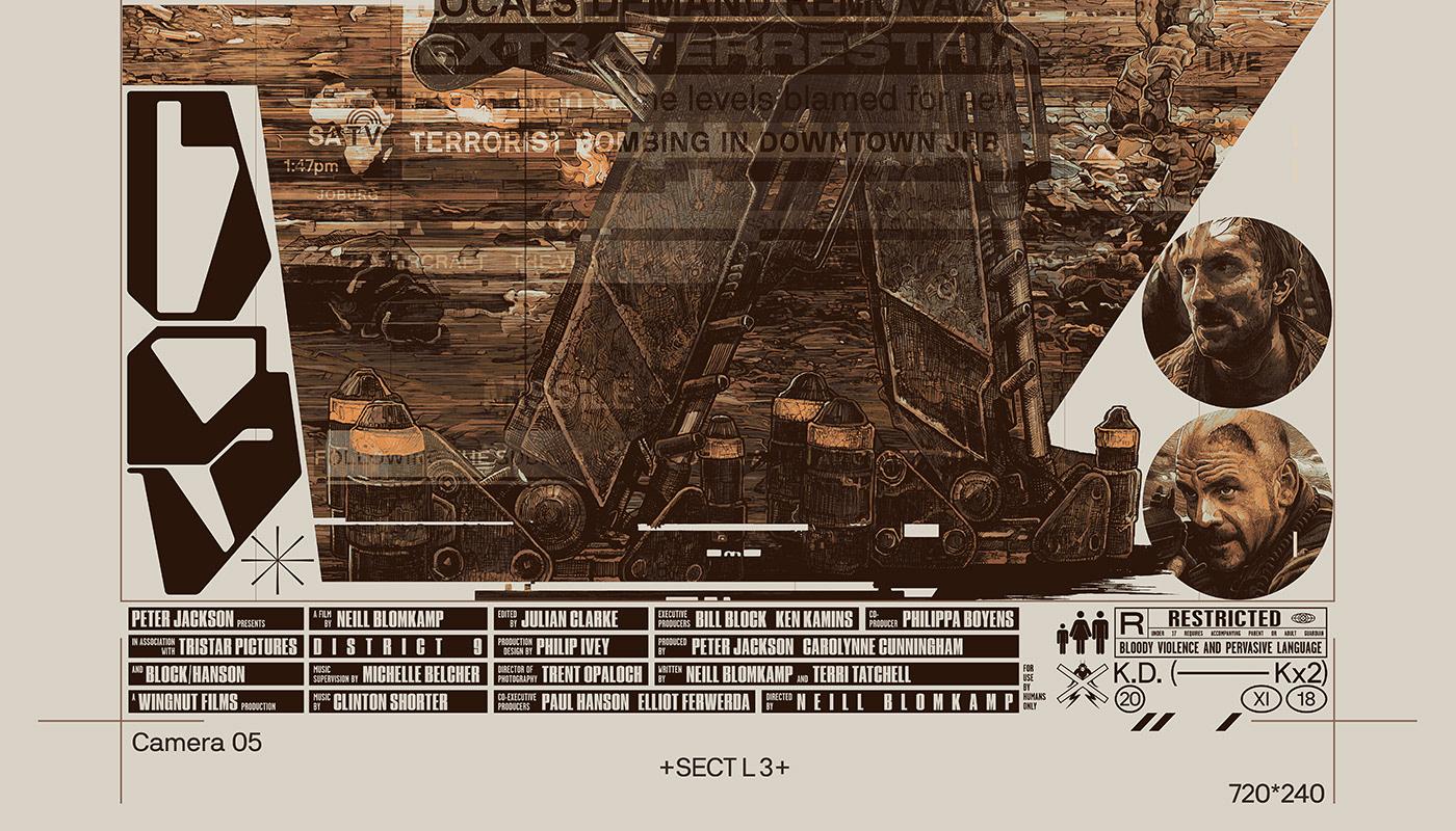 district 9 kung fu hustle new york minute poster posterdesign ILLUSTRATION  Drawing  StudioKxx Krzysztof Domaradzki