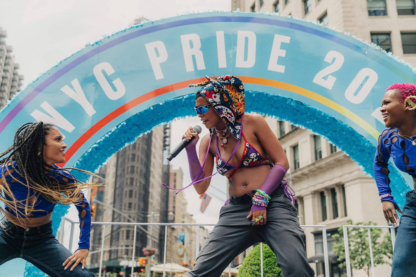action concert concert photography New York new york pride nyc pride  portrait photography pride pride month princess nokia