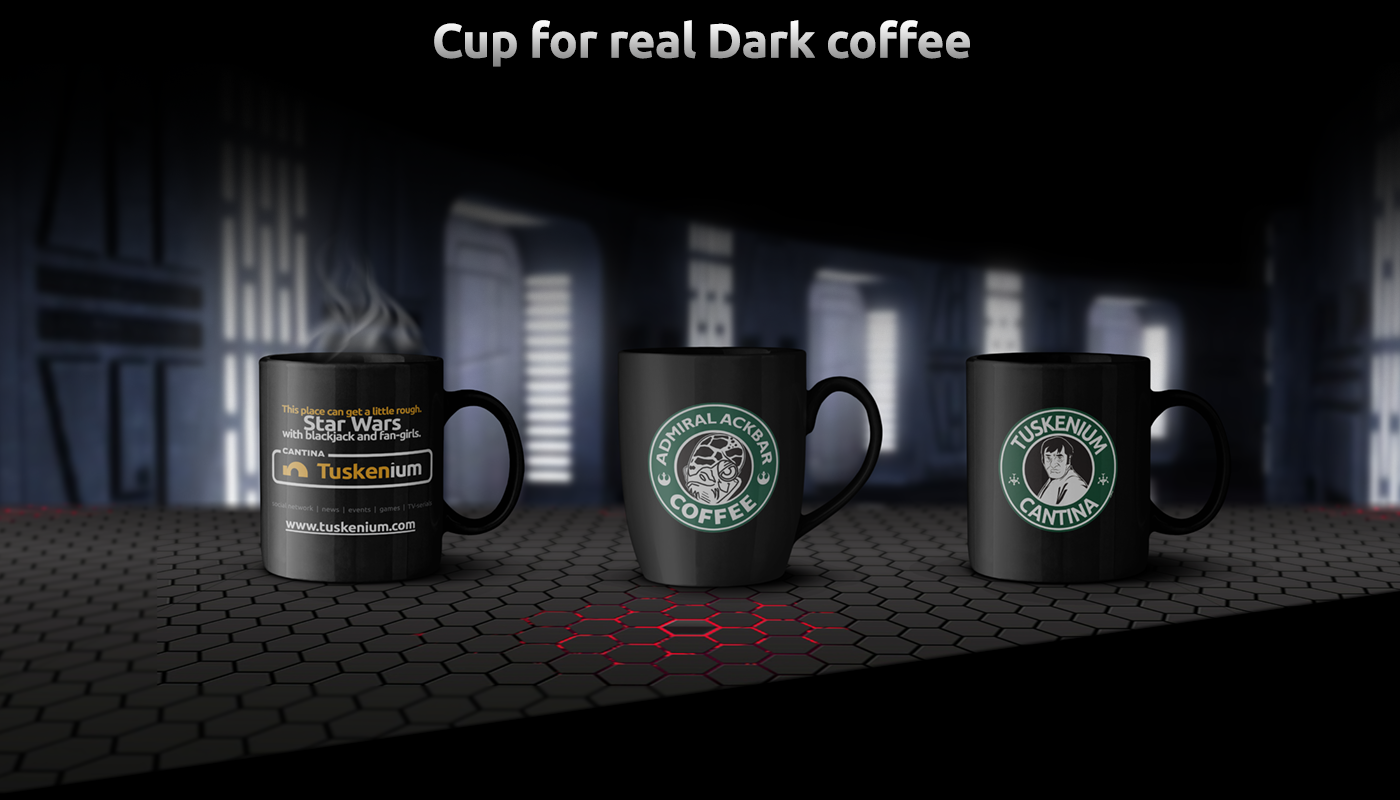 star wars tuskenium Coffee brand identity print