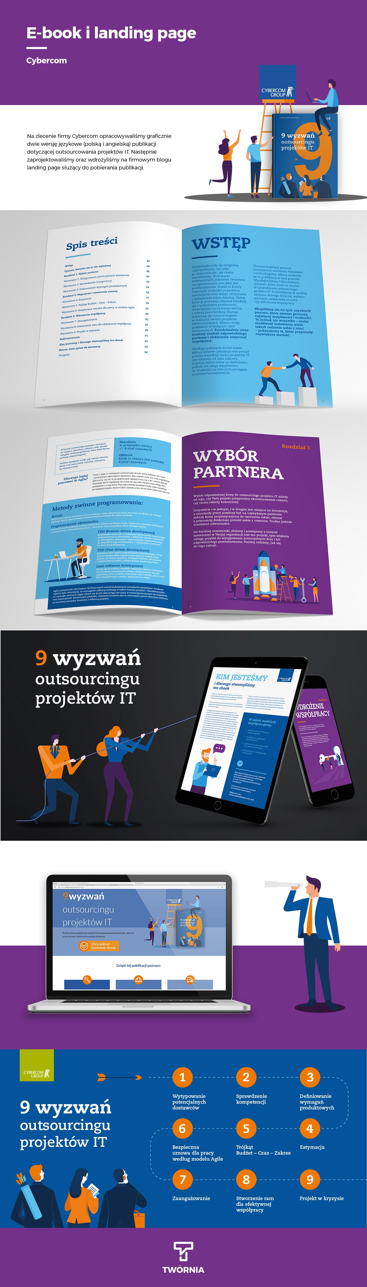 langing page  publikacja ebook publication projekt strony Webdesign web project poradnik