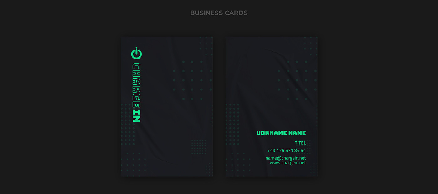 CHARGE IN // Business Cards