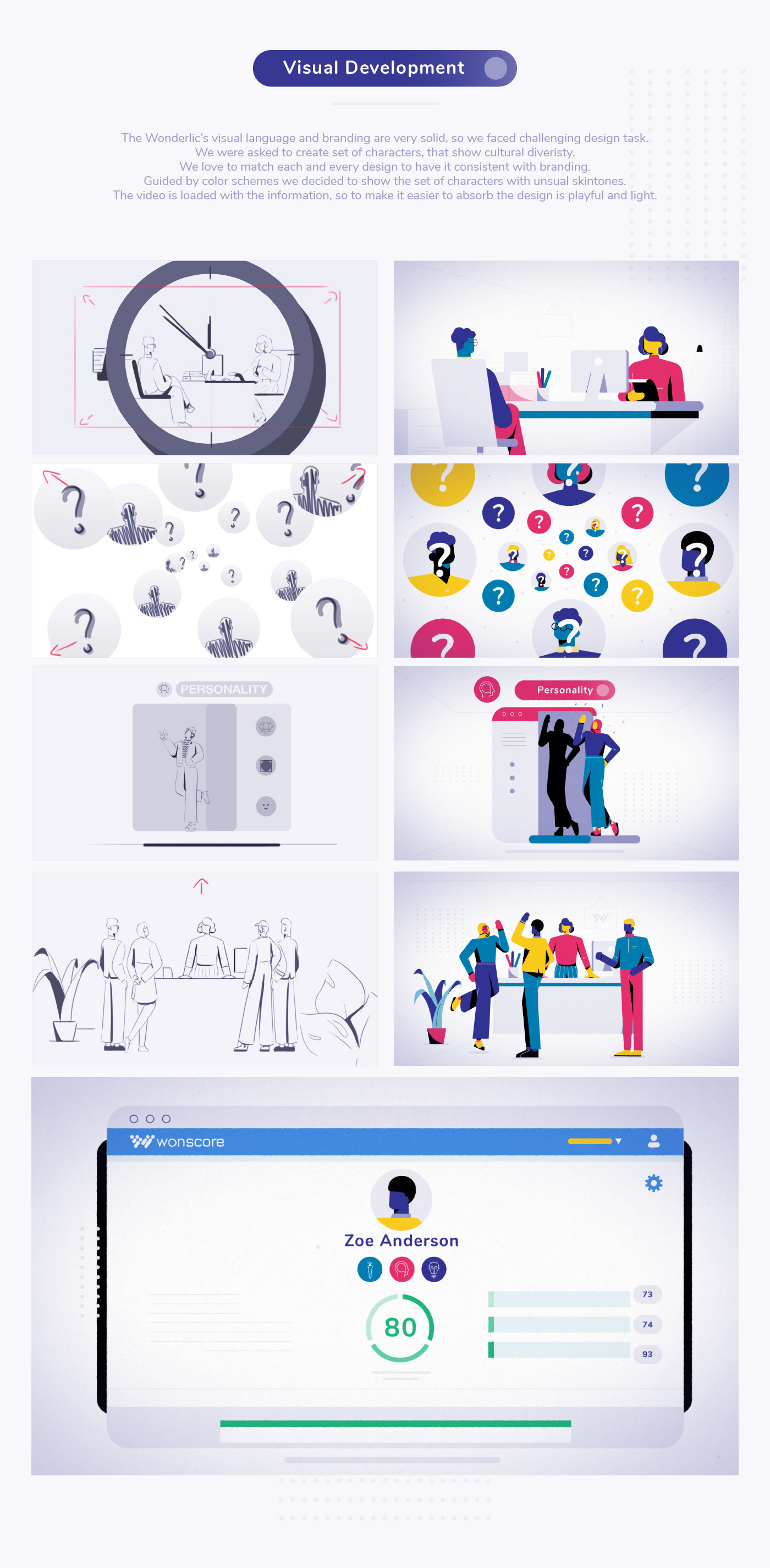 animated interface animation  Character design  employee hiring HR Human Resources Office vivid workplace