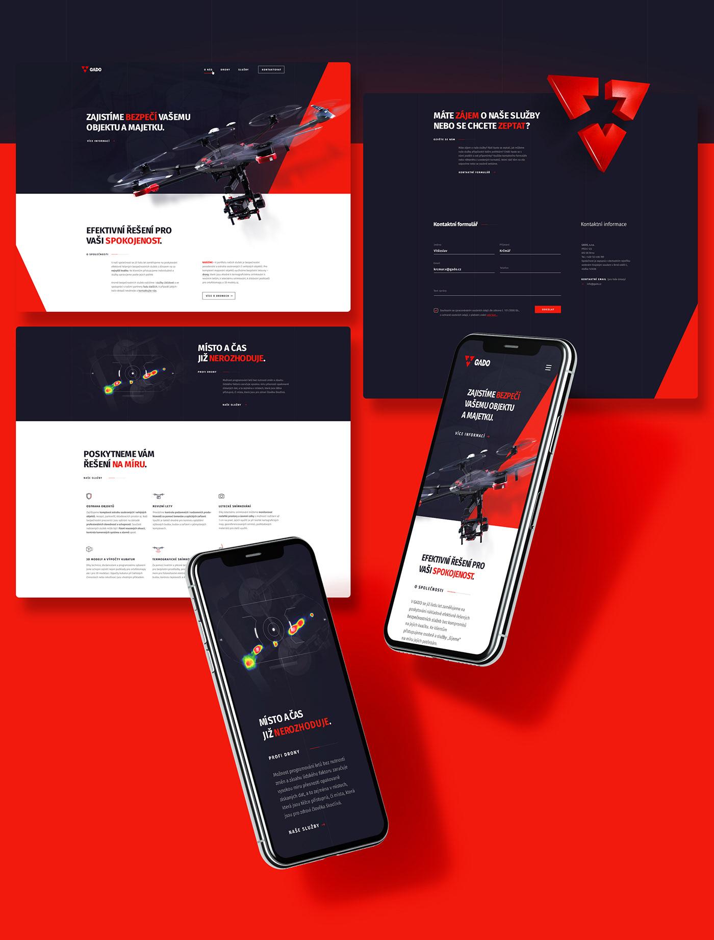 security agency logo corporate identity Web design drone branding
