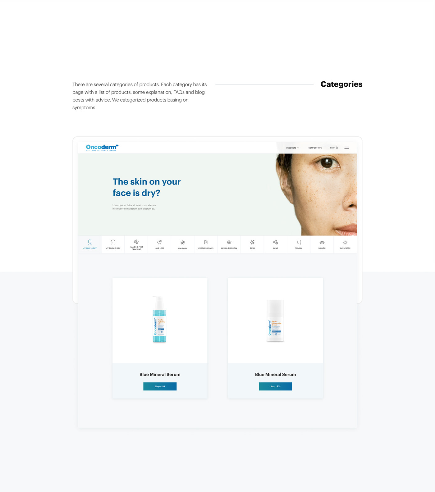 e-commerce medicine TELEMEDICINE patient clean personal account Health Minimalism skincare ux/ui