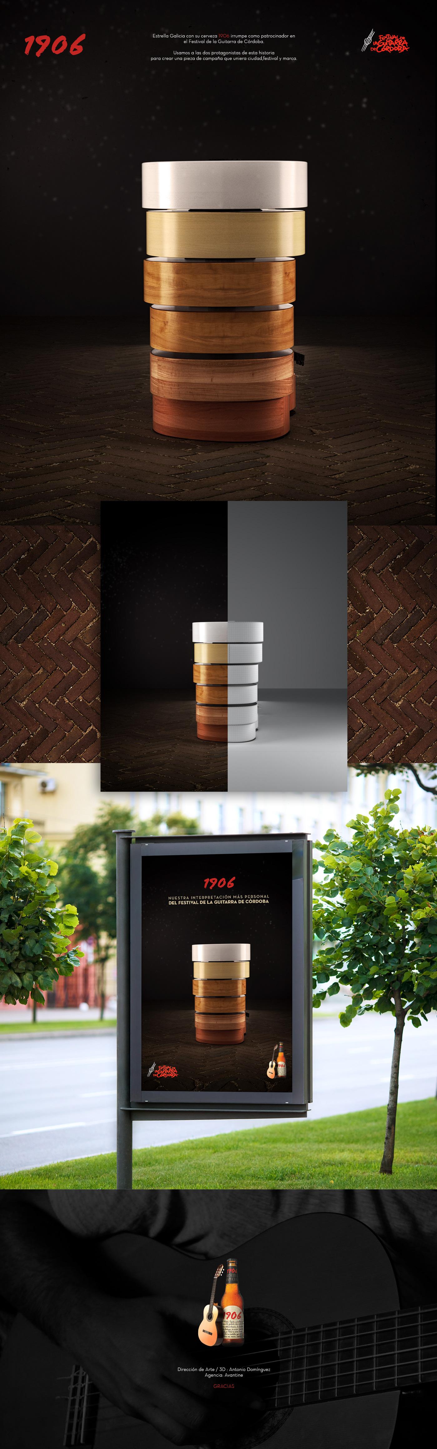 Advertising  publicidad cerveza Diseño 3D dirección de arte ilustracion