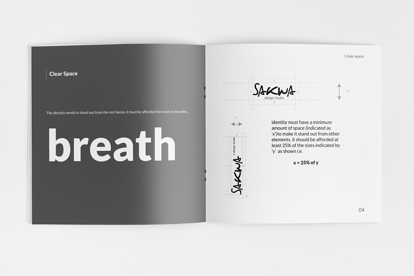 identity logo identity guidelines branding guidelines clean Minimalism book print