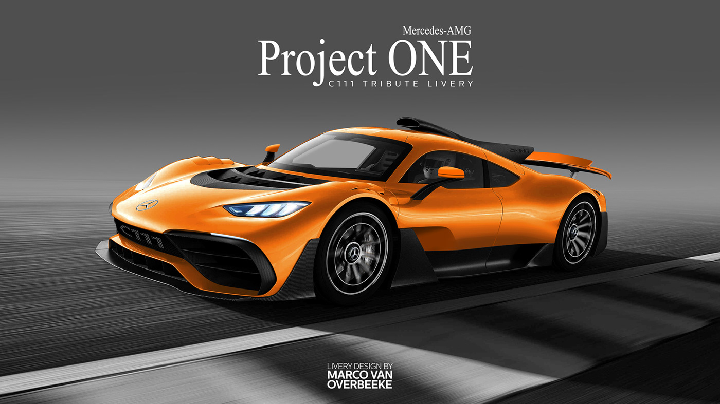 Mercedes Amg Project One Tributes Custom Liveries On Behance
