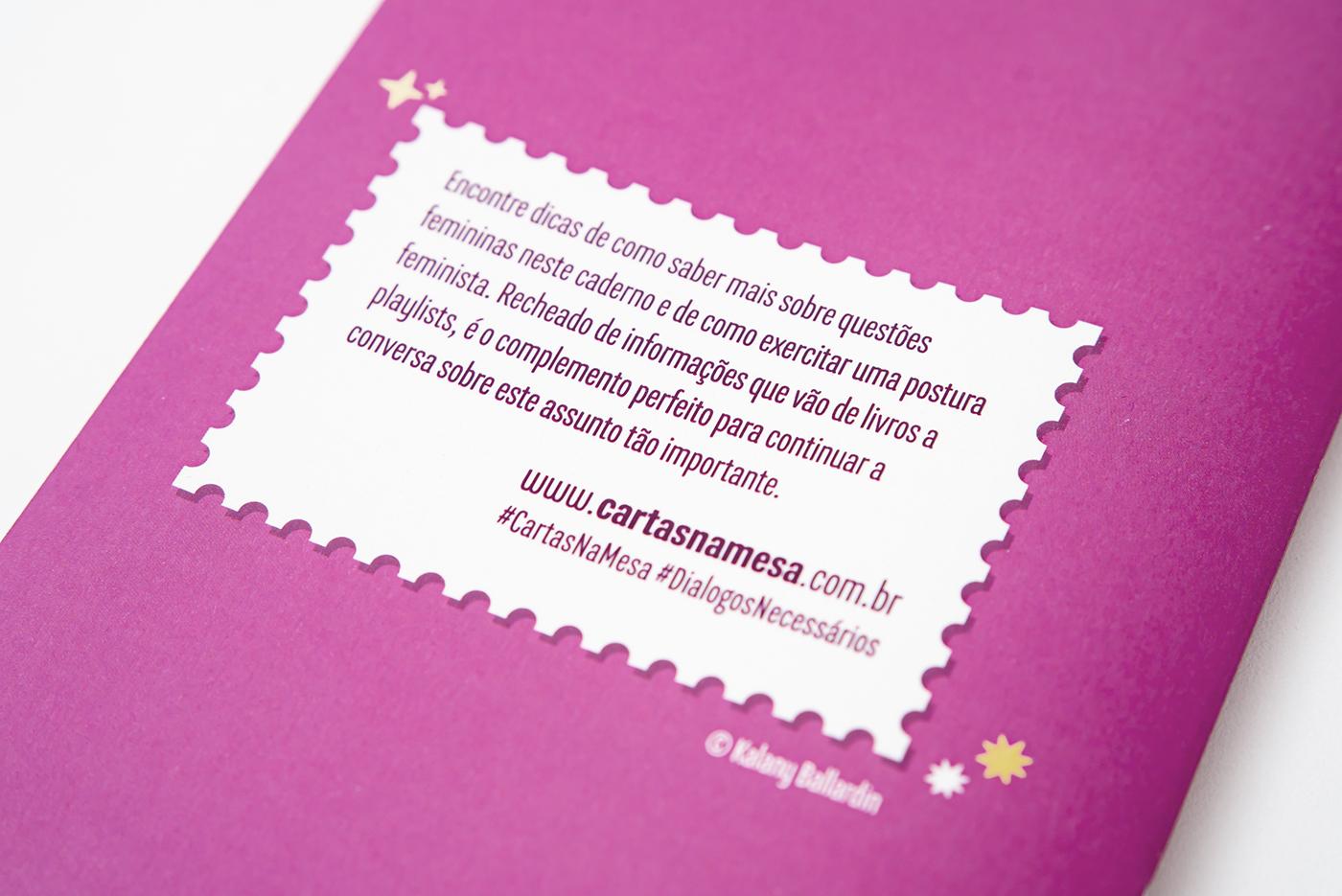 feminism conversation dialogo mulher women empoderamento lettering cardborad game Girl Power colorful