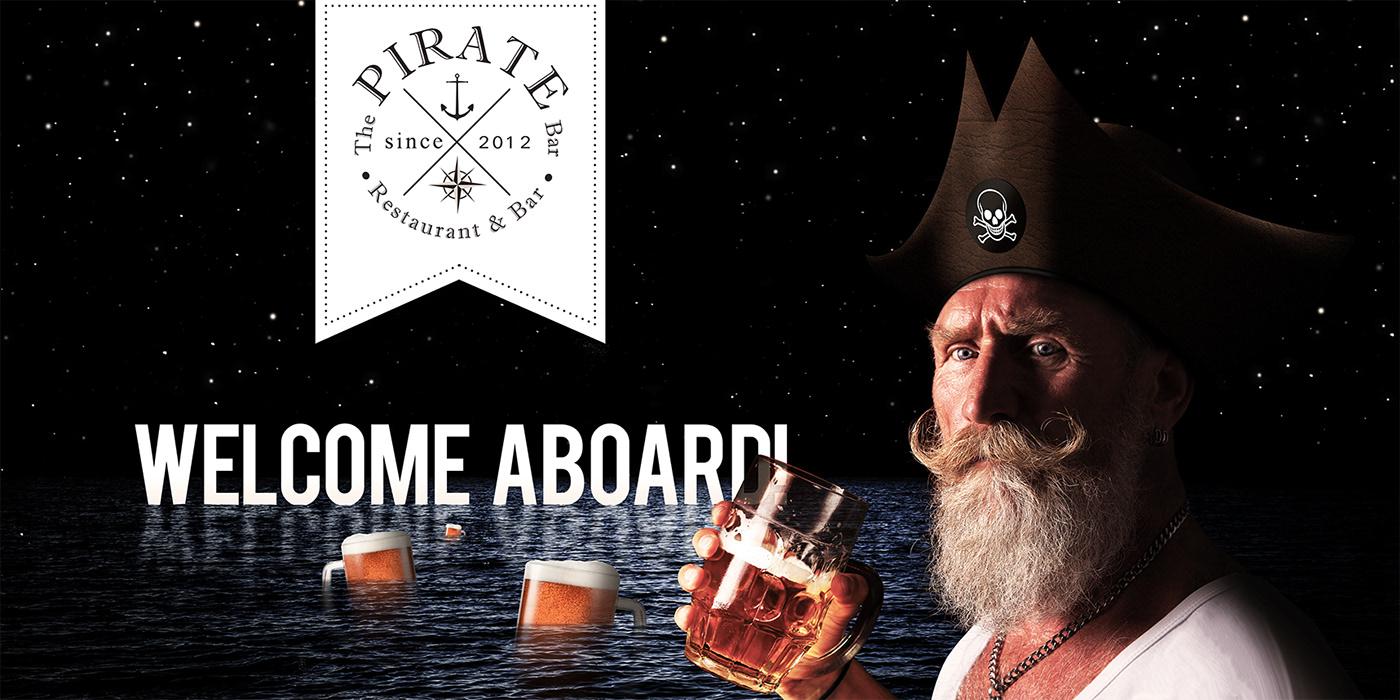 bar beer branding  facebook flyer logo post