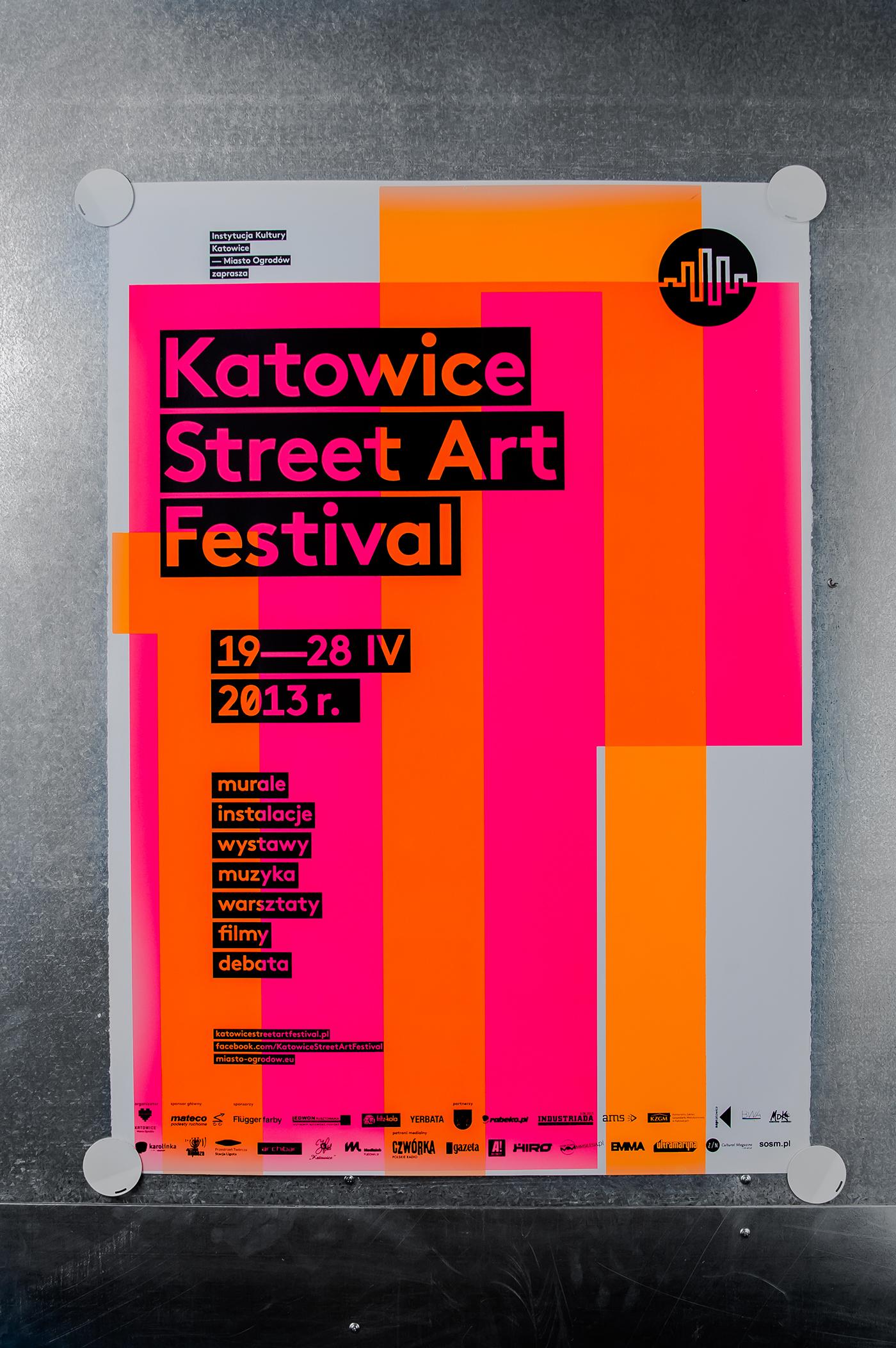 katowice street art festival silkscreen poster series on behance. Black Bedroom Furniture Sets. Home Design Ideas