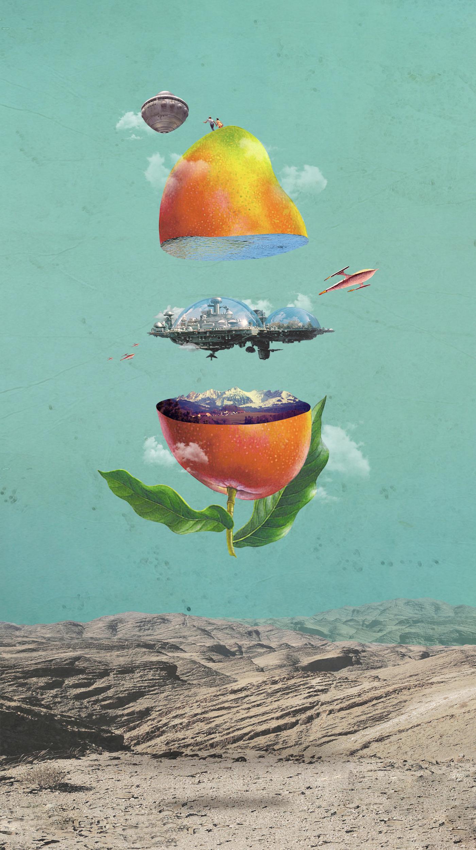 collage art Mango films mexico vintage surrealism Retro landscapes