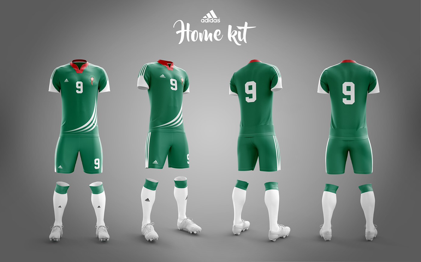 timeless design 5867c a0395 Morocco soccer kit - World cup Russia 2018 | Adidas on Behance