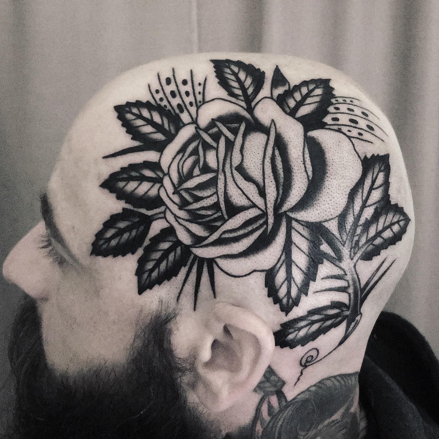 有美感的33款玫瑰花刺青欣賞