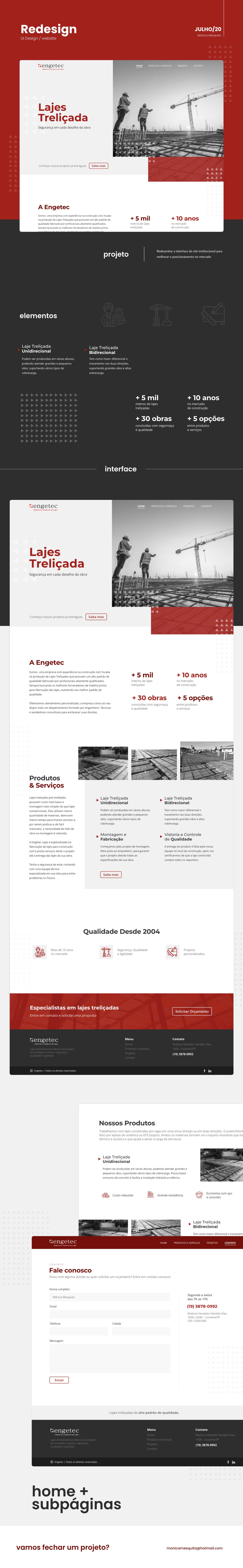 Interface uidesign Website