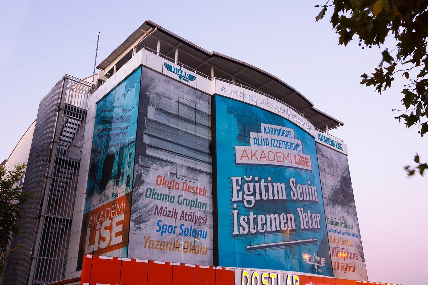 akademi Bina giydirme indoor karamürsel KBB lise Outdoor reklam tasarım